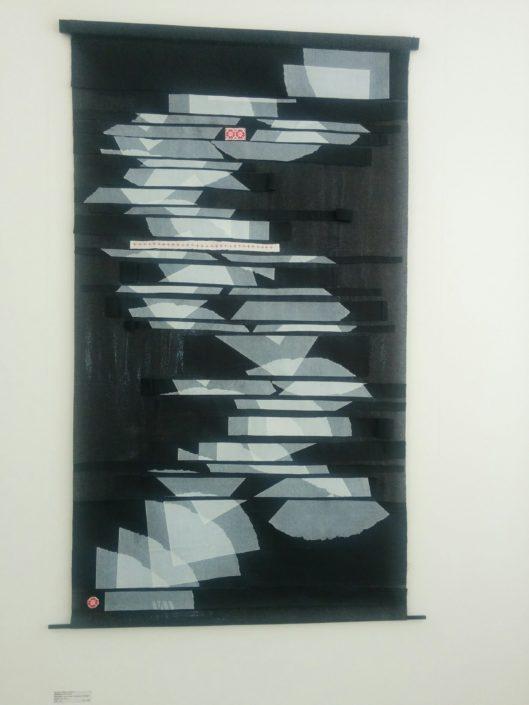 Minden egész eltörött, 90×150, Vlieseline und Baumwolle Handdruck und Collage, 2017
